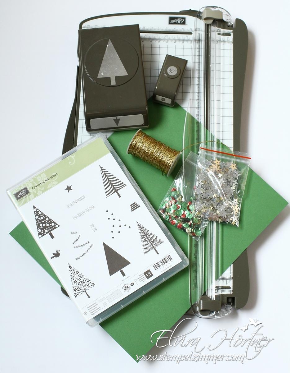 Material für Tannenbaum Goodies