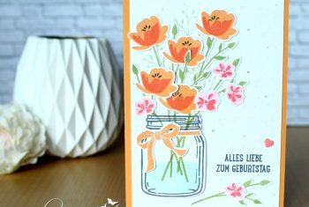Blumenvase - Glasklare Grüße-Stampin Up