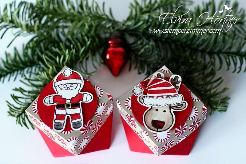 Diamantbox Rentier und Weihnachtsmann Stampin Up-Stempelzimmer