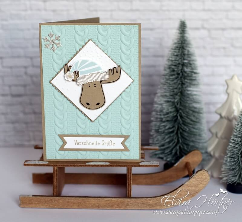 Stampin Up Jolly Friends, Zopfmuster Prägefolder, Stempelzimmer,