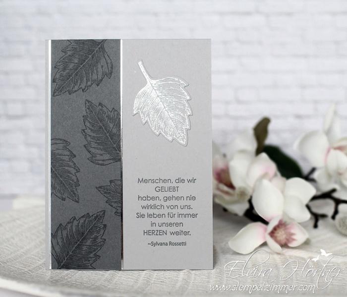Trauerkarte-Vintage Leaves-Stampin Up