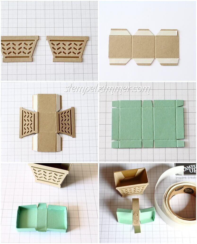Anleitung für die kleinen Picknick Körbchen - Stampin Up - Stempelzimmer