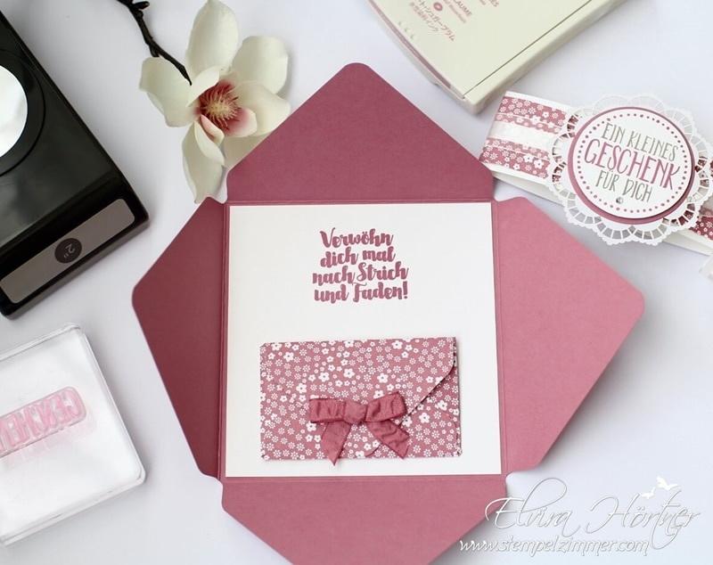 Umschlagkarte-Ein kleines Geschenk-perfekt verpackt-Stempelzimmer-Stampin Up