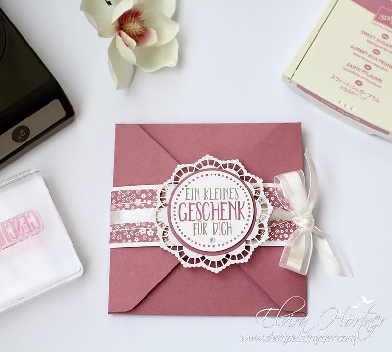 Ein kleines Geschenk - perfekt verpackt-Stampin Up-Stempelzimmer-Blog Österreich