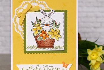 Frohe Ostern-Osterkarte mit dem Set Osterkörbchn von Stampin Up