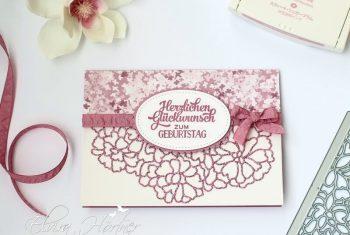 Geburtstagskarte-Thinlits Liebe zum Detail-Stampin Up