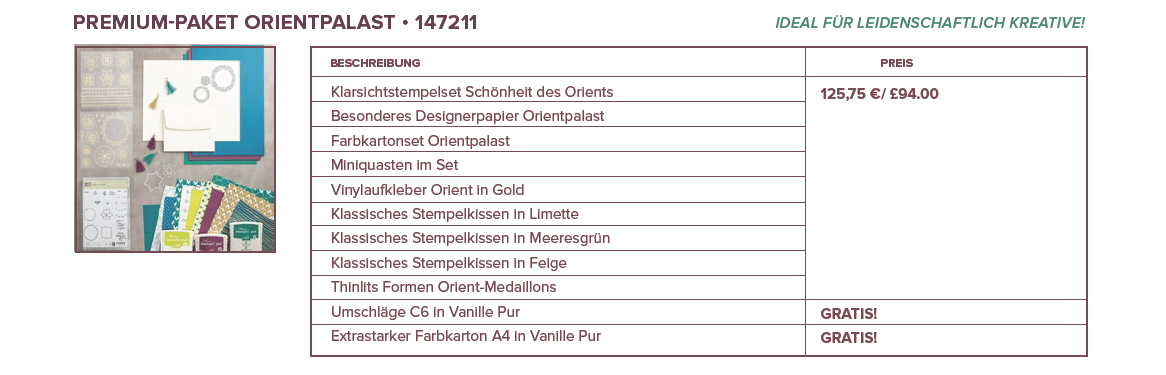 Produktpaket Orientpalast-Stampin Up-Premiumpaket-Stempelzimmer