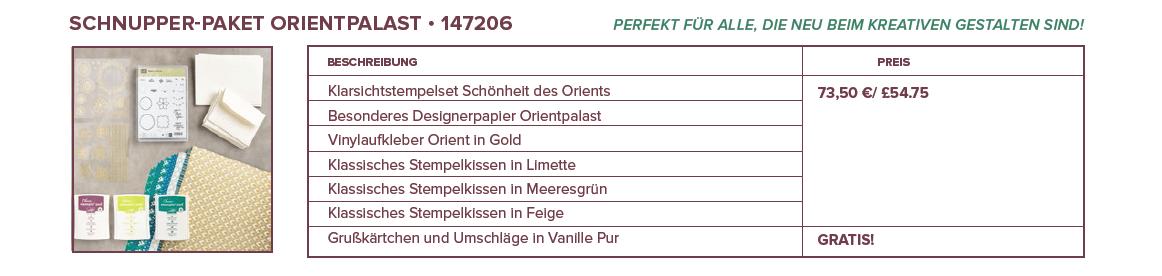 Produktpaket Orientpalast-Stampin Up-Schnupperpaket