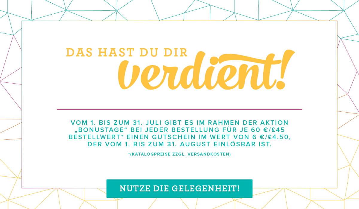 Bonustage im Juli-Stampin-Up-Blog-Österreich