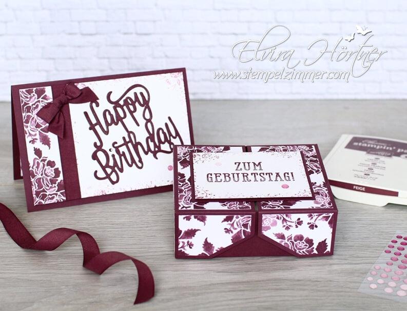 Happy Birthday Thinlits und Double Fliptop Box für Stempelkissen-stampin-up-blog-österreich
