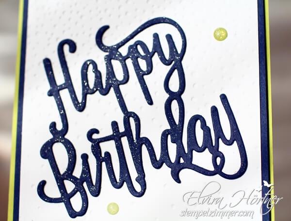 Happy Birthday Thinlits-Stampin Up-Marineblau-Wink of Stella