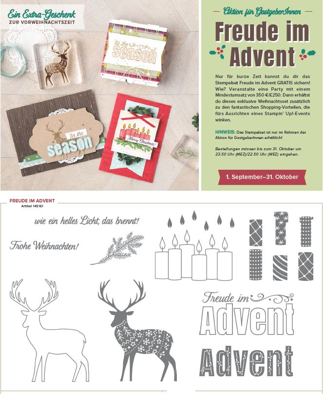 Aktion Freude im Advent-Stampin Up