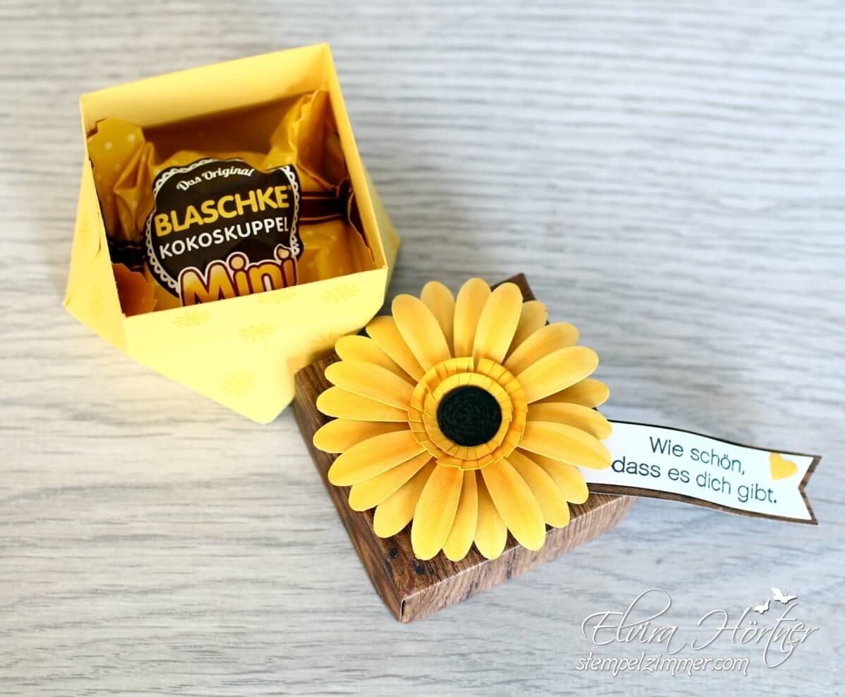 Gänseblümchen-Gerbera-Sonnenblume-Stanze Daisy-Stampin Up-Stempelzimmer-Blog