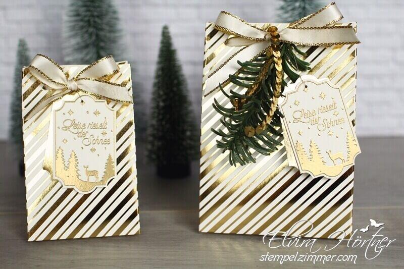 Goldene Weihnachten-Leise rieselt der Schnee-Geschenkanhänger-Stampin Up-Stempelzimmer-Blog-Österreich