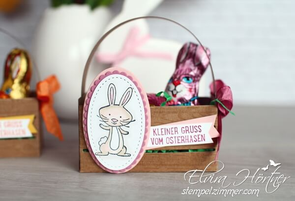 Holzkiste von Stampin Up-Osterhase-we must celebrate-Zartrosa-Stampin Blends-Ostern-Stempelzimmer