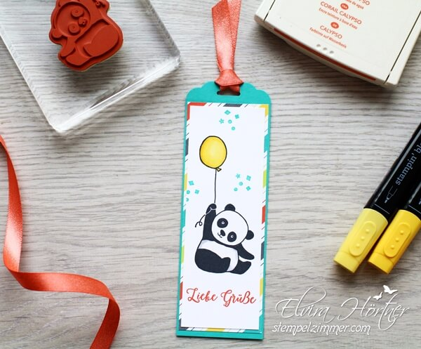 Liebe Gruesse vom Panda-SAB-Party Pandas-Stampin Up-Blog-Österreich-Elvira Hörtner-Stempelzimmer