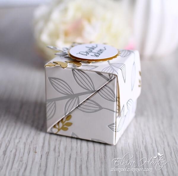 Box mit diagonalem Verschluss-Goodies-SAB-Stampin Up-Framelits Tortenkreation-Stempelzimmer