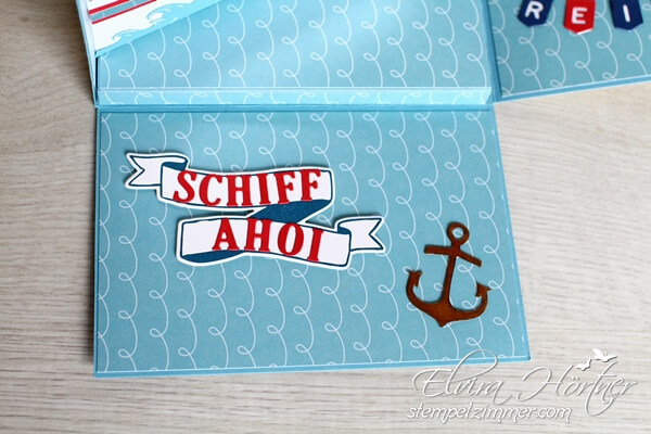 Explosionsbox - Schiff Ahoi - Stampin Up