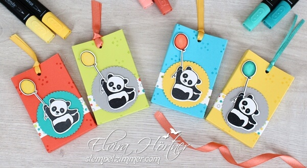 Lindergeburtstag-Party Pandas-Gummibaerchen-Verpackung-Stampin Up