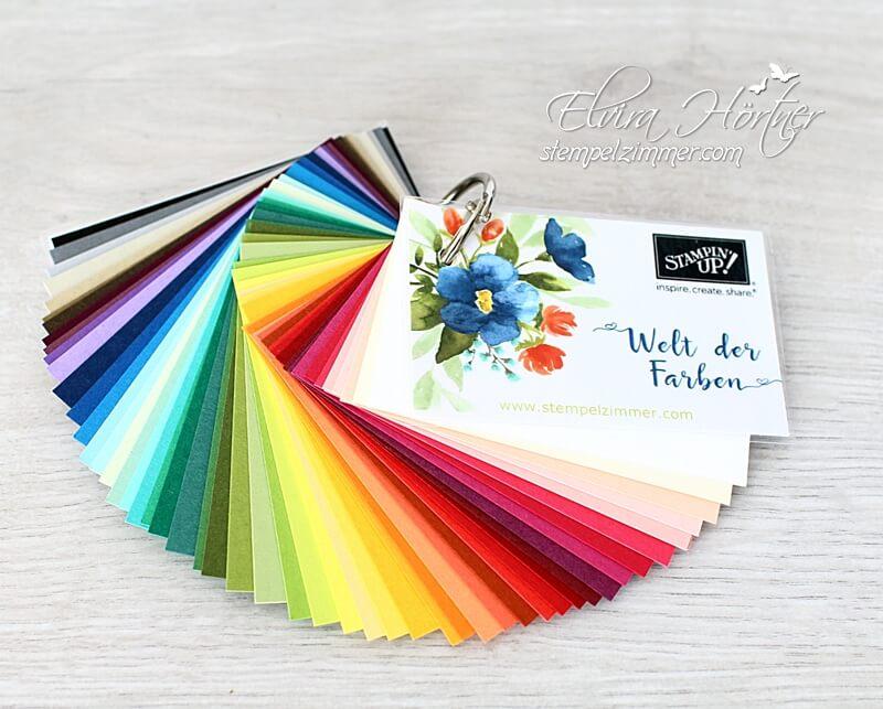 Farbfächer-Welt der Farben von Stampin' Up!, aktuelle Farben 2018-bestellen-Stempelzimmer.com-Blog-Österreich