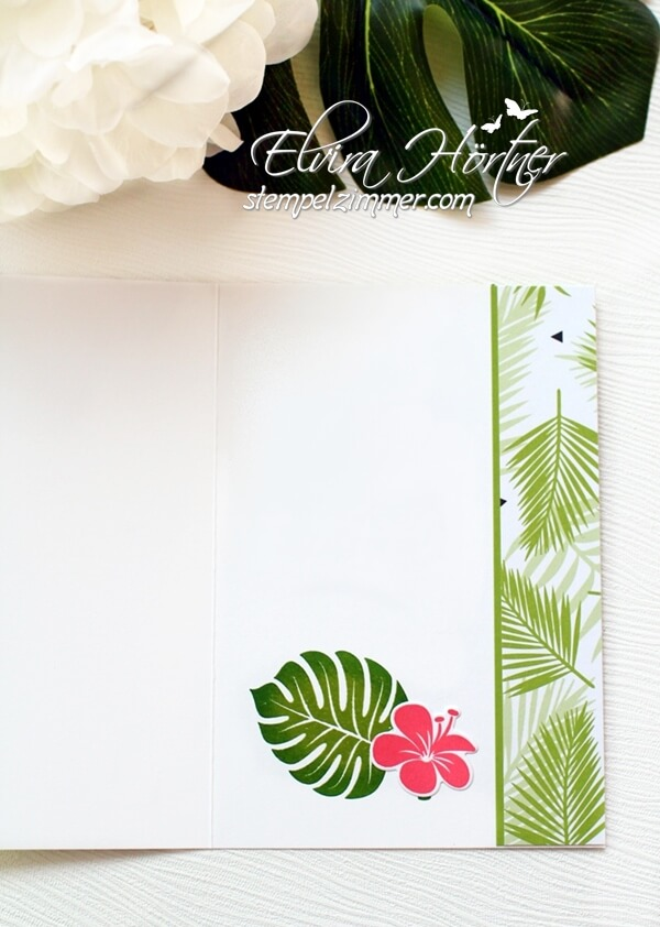 Tropenflair-Bestickte Etiketten-Geburtstagskarte-Stampin Up
