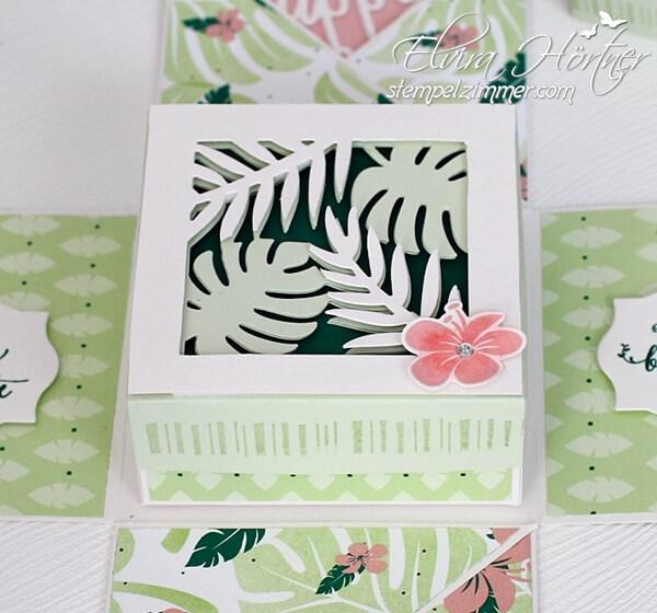 Geschenkbox für Geld-Tropenflair-Tropical Chic-Verpackung-Stampin Up