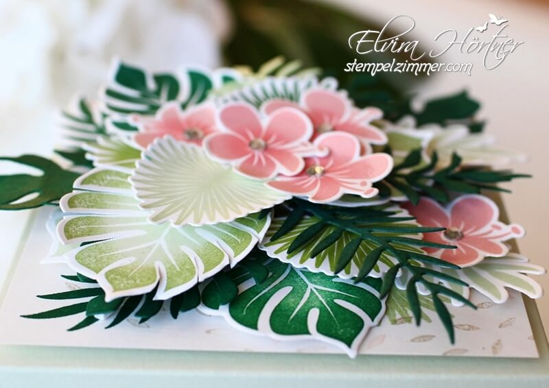 Explosionsbox Tropenflair-Tropical Chic-Palmengarten-Stampin Up
