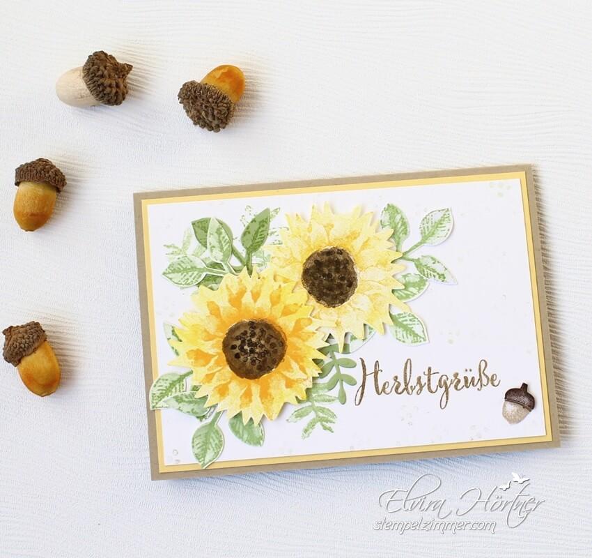 Herbstanfang-Herbstbeginn mit Sonnenblumen-Herbstgruesse-Stampin Up-Blog-Oesterreich