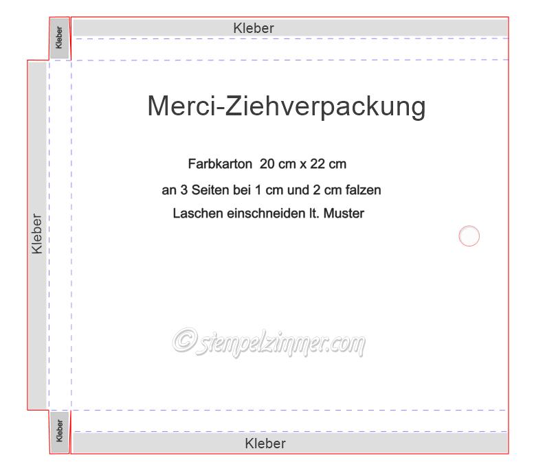 Anleitung Merci-Ziehverpackung mit Produkten von Stampin Up - Stempelzimmer-Elvira Hoertner