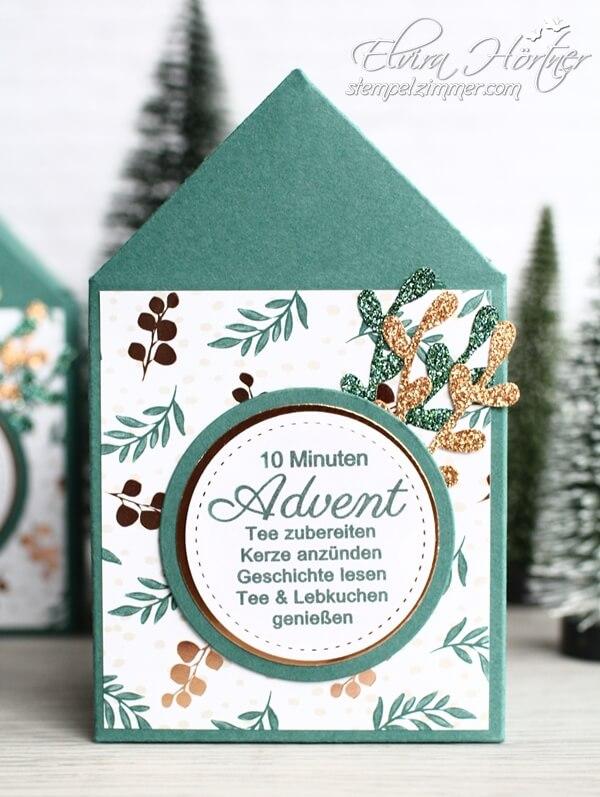 10 Minuten Advent im Häuschen-Wellness-Zeit zum Geniessen-Kleine Auszeit im Advent-Stampin Up-Stempelzimmer