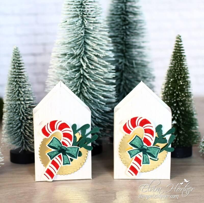 Haeuschen mit Zuckerstange-Goodies-Zuckersuesse Weihnachten-Stampin Up