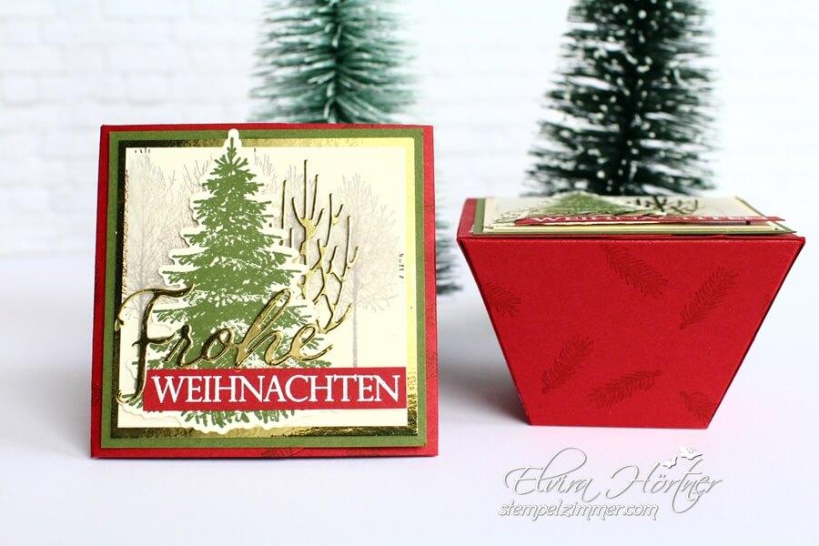 Weihnachtliche Trapezboxen-Frohe Weihnachten-Winterwald-Stampin Up-Oesterreich-Blog-Elviras Stempelzimmer