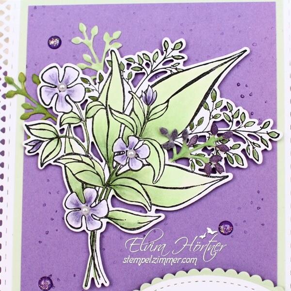 Grund zum Laecheln-Blumenstrauss coloriert mit Copics und Stampin' Blends von Stampin' Up!-Stempelzimmer.com-Elvira Hoertner