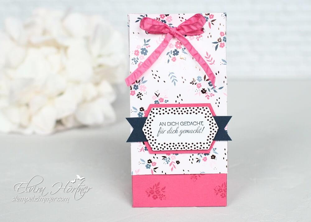 An dich gedacht-geteilte Geschenktüte-Alles Wunderbar-Everything is rosy-Stampin Up