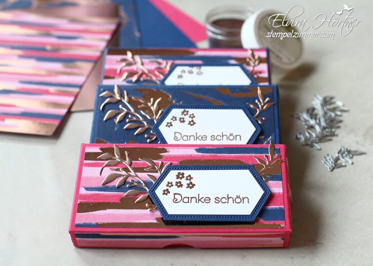Kleine Schokiverpackung-Danke schön-Produktmedley-Alles wunderbare-Everything rosy-Stampin Up