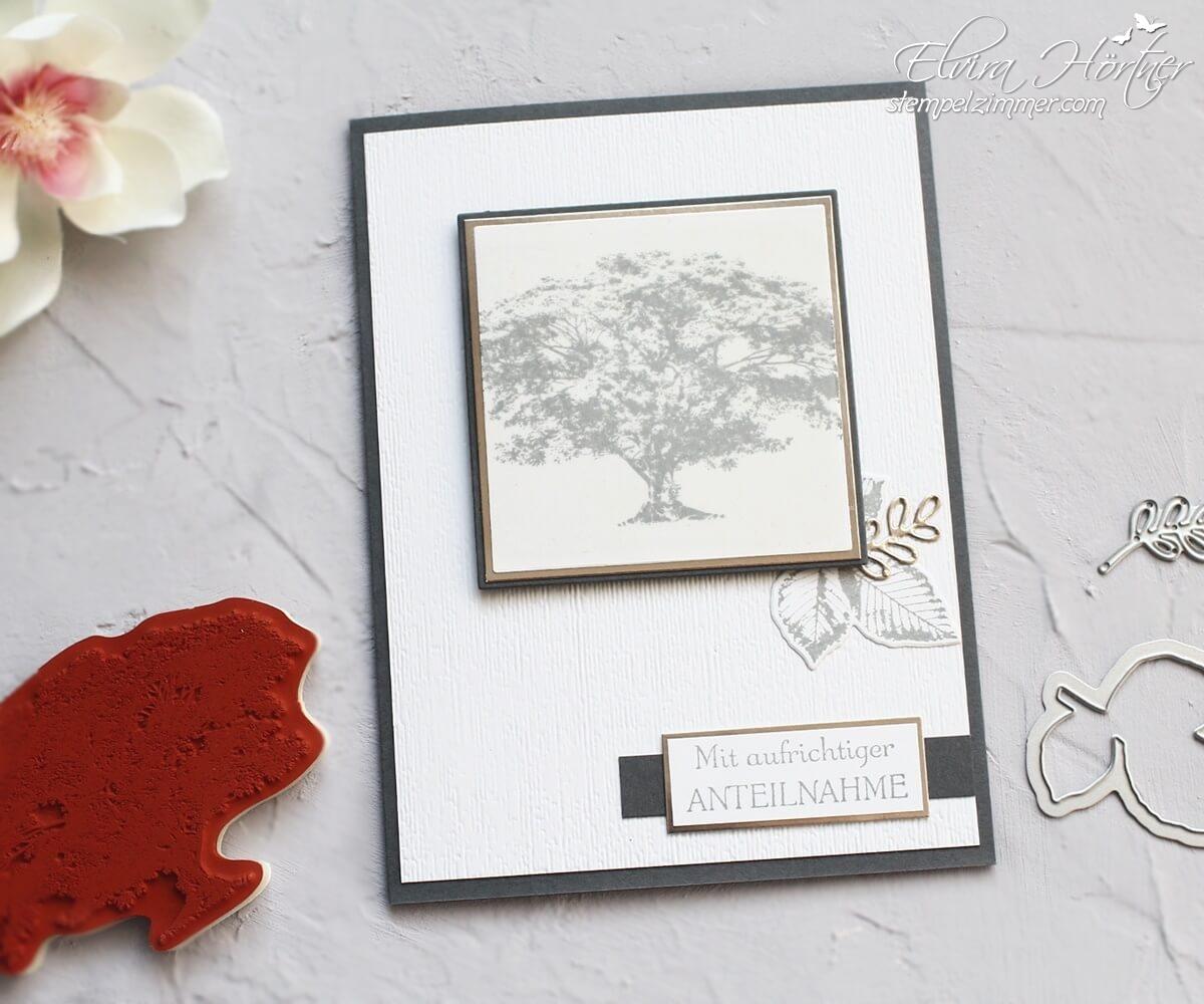 Trauerkarte-Kraft der Natur-aufrichtige Anteilnahme-Stampin Up-Stempelzimmer