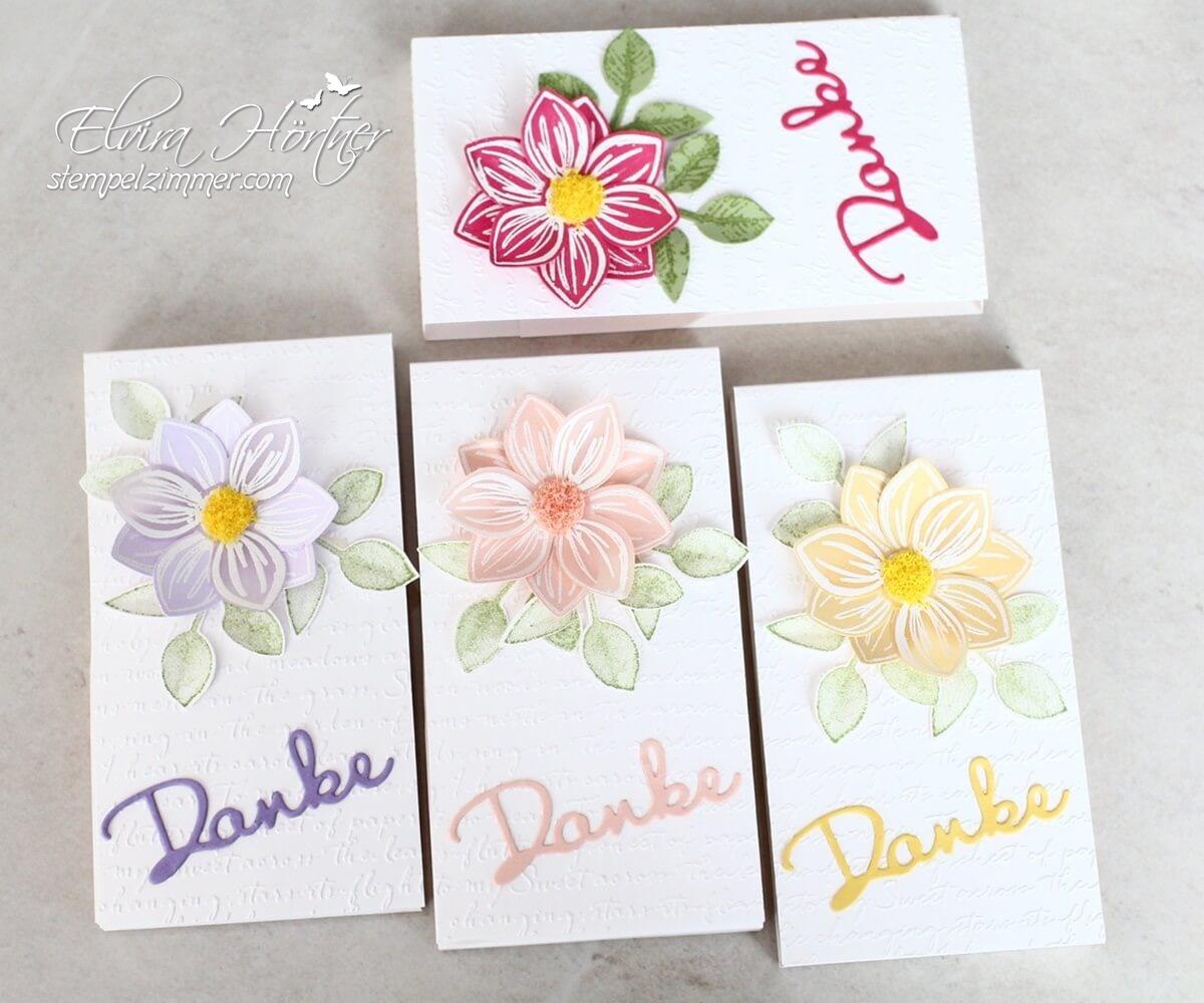 Florale Freude-Goodies-Schokolift-Danke-Schreibschrift-Praegeform-Embossen-Stampin Up!