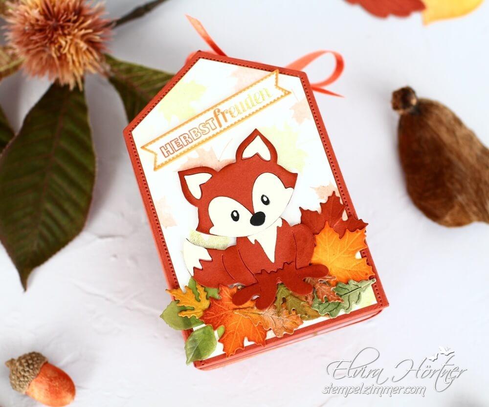 Herbstbeginn-Herbstlaub-Herbstfreuden-Herbstliche Verpackung mit Produkten von Stampin Up