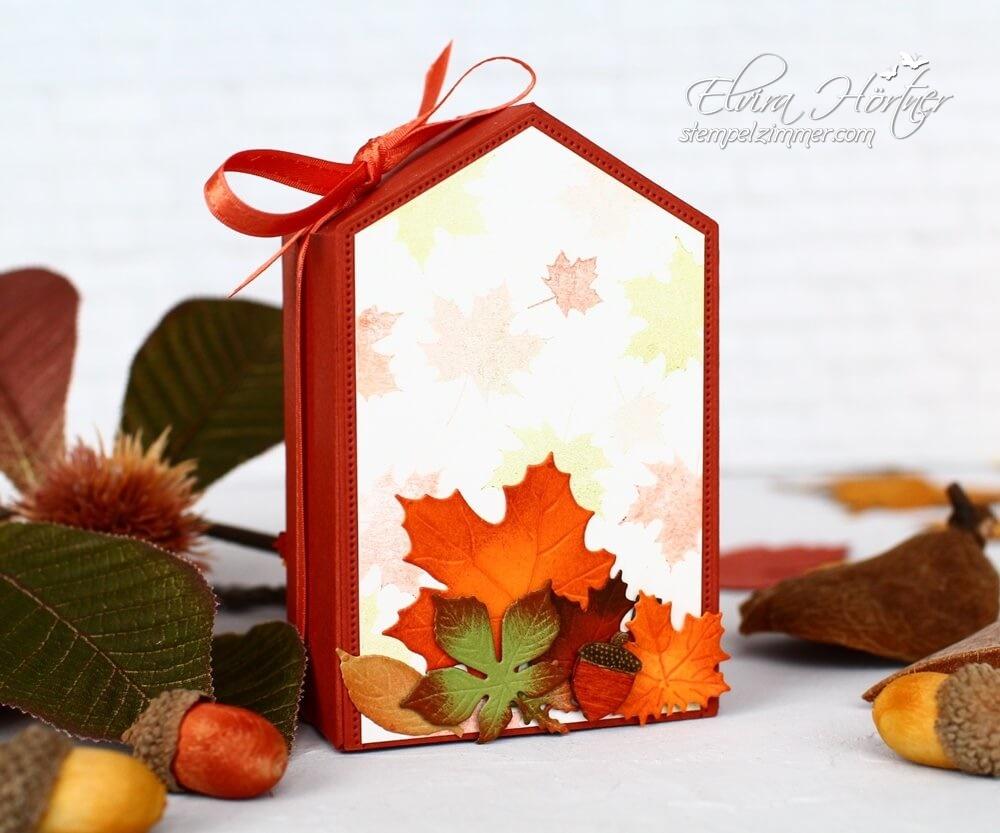 Herbstliche Verpackung selbstgemacht