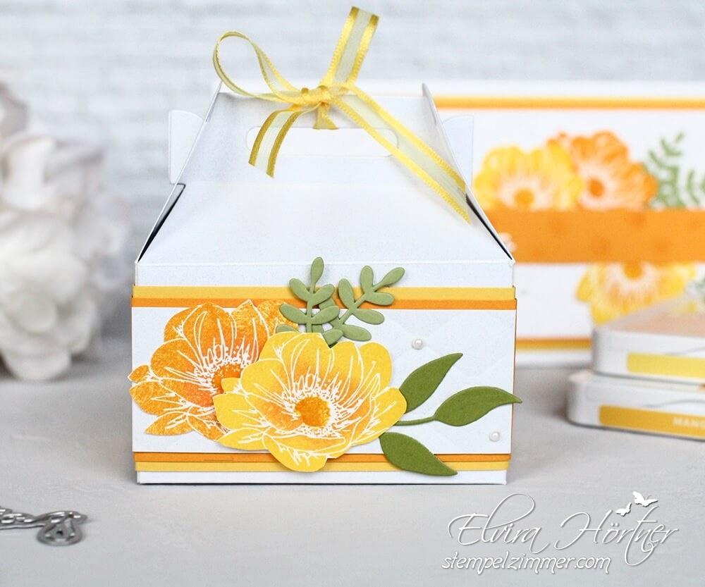 Sommerliches Geburtstagsset-Geschenkverpackung-Florale Freude-Stampin' Up!