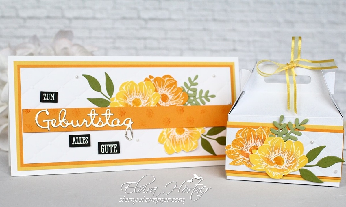 Sommerliches Geburtstagsset mit Produkten von Stampin' Up! - Florale Freude