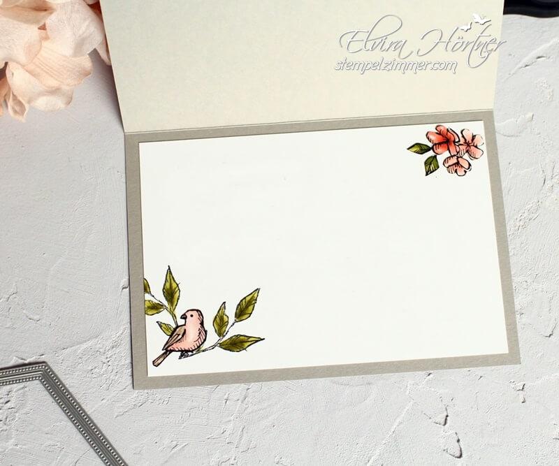 Geburtstagskarte - Designerpapier Vogelgarten - Stampin Up - Stempelset Frei wie ein Vogel
