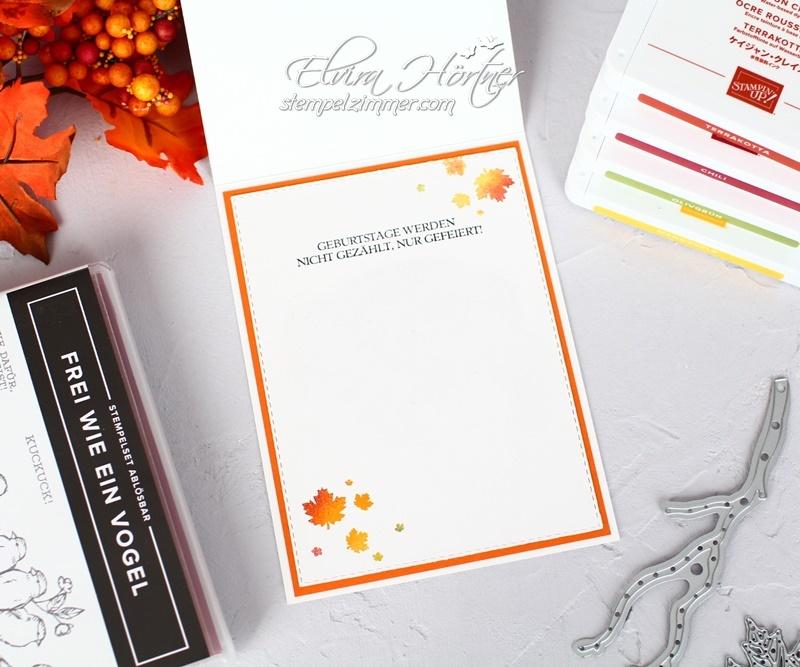 Herbstliche Geburtstagskarte-Frei wie ein Vogel-Geburtstagsmix-Stampin Up-Blog-Stempelzimmer