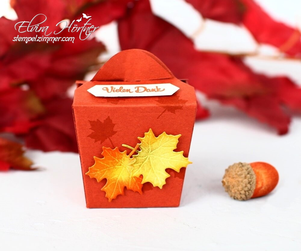 Herbstliche Goodies-Take Out Box-Herbstblätter-Stampin Up