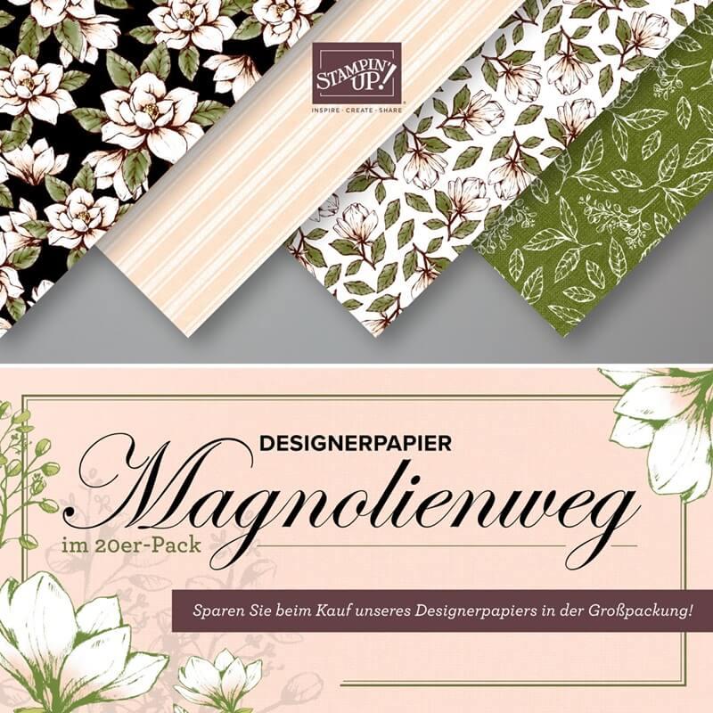 Designerpapier Magnolienweg