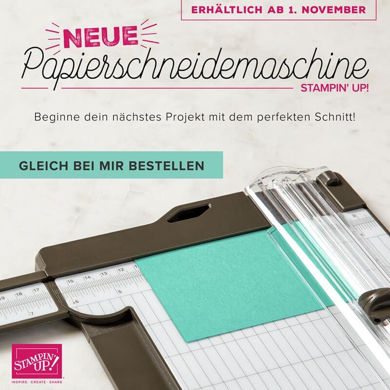 Der neue Papierschneider