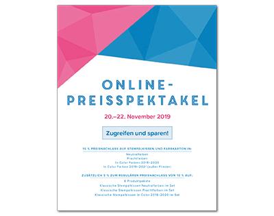 Online-Preisspektakel - Flyer