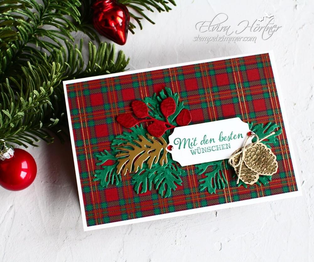 Friedvolle Zweige-Weihnachtskarte-Stampin' Up!-Stempelzimmer