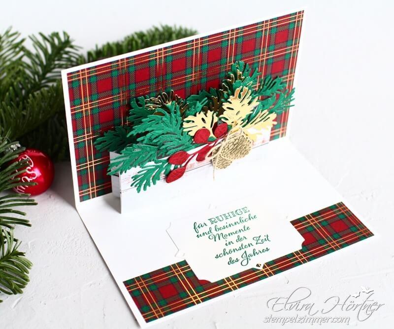 Zauberhafte Zweige-Weihnachtskarte-Pop-Up-Karte-Stampin' Up!