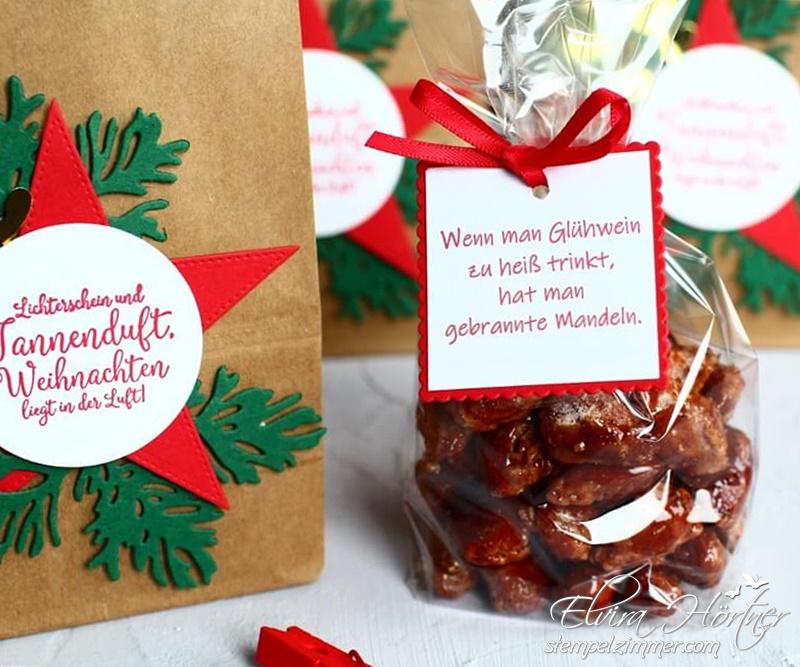 Wenn man Glühwein zu heiß trinkt - gebrannte Mandeln - Lichterschein und Tannenduft - Stampin Up - Kleine Geschenke